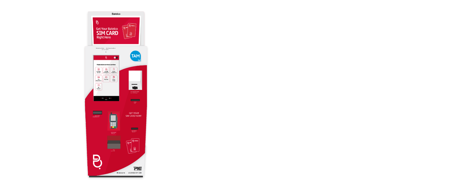 Batelco Sim Dispensing Kiosk